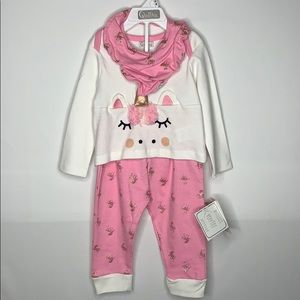 NEW Quiltex 12 Month Old Unicorn Outfit